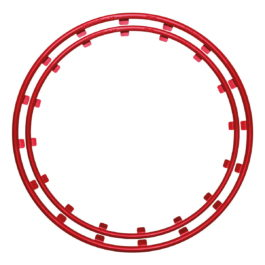 Rim Protector Red Rim Ringz different front rear wheels