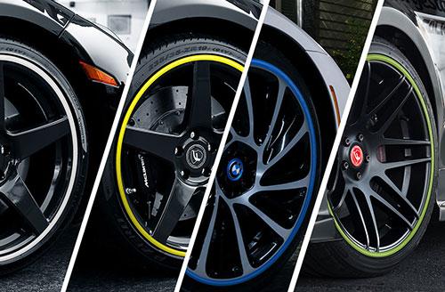 "Alloy Wheel Protectors Rim Ringz 20/"" Green"